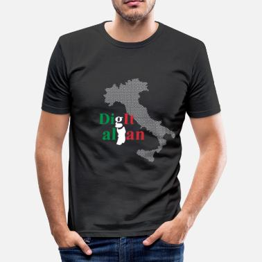 Italian Design Digitalian - boots design. Italian art - Men's Slim Fit T-Shirt