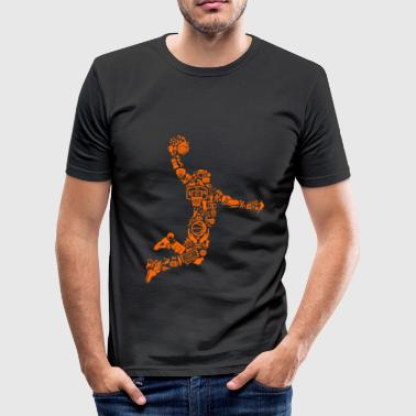 Basketballspiller - Herre Slim Fit T-Shirt