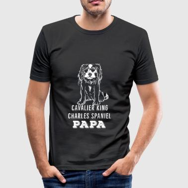 Charles Darwin Cavalier King Charles Spaniel Blenheim dad - Men's Slim Fit T-Shirt