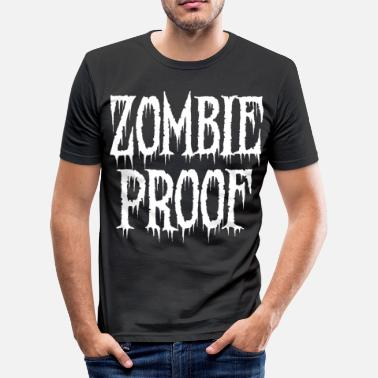 Tankeløst Zombie Monster Halloween Scary Horror Gift - Herre Slim Fit T-Shirt
