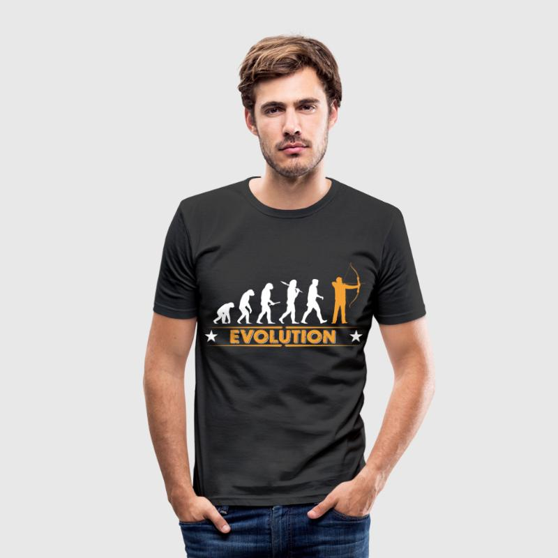 Boogschieten evolutie - oranje/wit - slim fit T-shirt