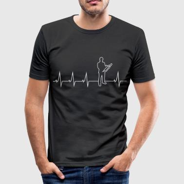 Aircraft Engineers Engineer - heartbeat - Men's Slim Fit T-Shirt