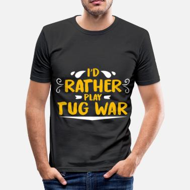 Tugging tug of War - Men's Slim Fit T-Shirt
