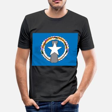Mariana Flag of Mariana Islands (mp) - Men's Slim Fit T-Shirt