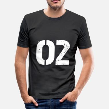Jersey Number 02 jersey jersey number - Men's Slim Fit T-Shirt