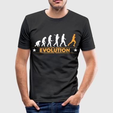 Running Evolution - orange/weiss - Maglietta aderente da uomo