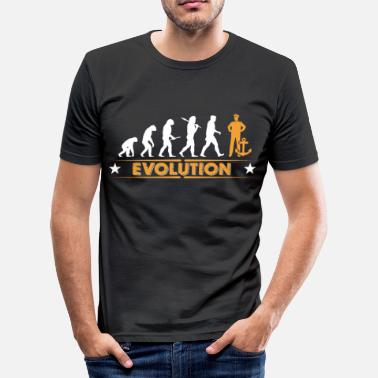 Kapitän Lustig Matrose - Anker - Evolution - Männer Slim Fit T-Shirt