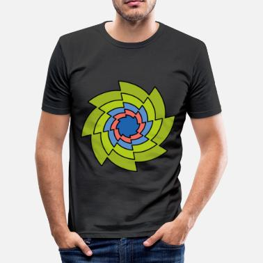 Golden Cut Golden cut circular saws pattern - Men's Slim Fit T-Shirt