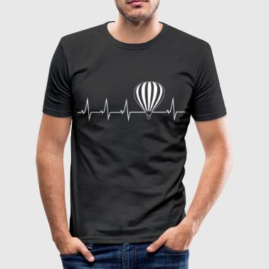 Air Hot air balloon - heartbeat - Men's Slim Fit T-Shirt