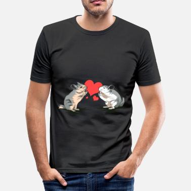 Chinchilla chinchilla - Slim Fit T-skjorte for menn