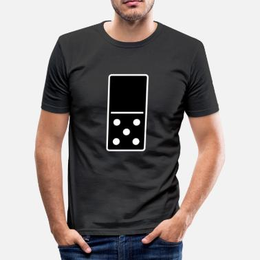 DOMINO STONE 0: 5 - VARIABLE COLOR - VECTOR DESIGN! - Slim Fit T-shirt herr