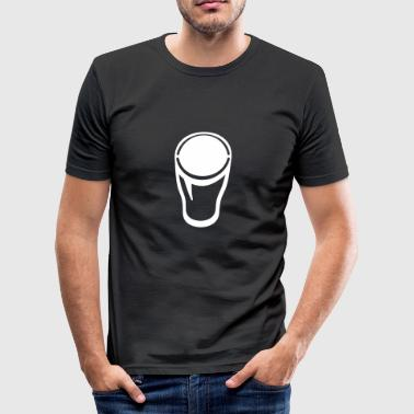 1 Pint Glas - Bierglas - Männer Slim Fit T-Shirt