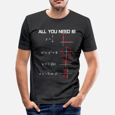 Maths Teacher Math love - Men's Slim Fit T-Shirt