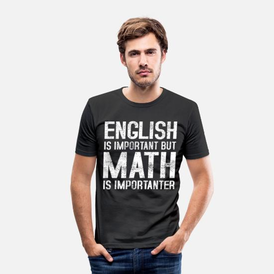Formula T-Shirts - Grammar Mathematics - Men's Slim Fit T-Shirt black