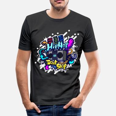 Classic Hip Hop Hip Hop classic ghettoblaster graffiti - Men's Slim Fit T-Shirt
