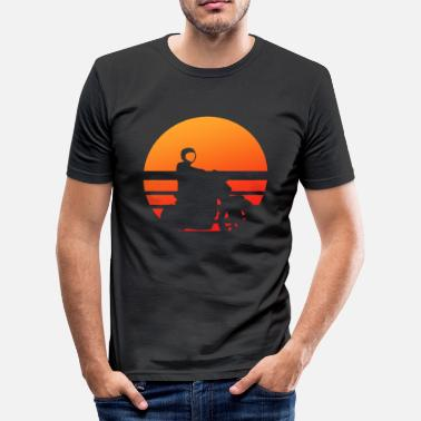 Wheelie Motorcycle Wheely motorcycle retro - Men's Slim Fit T-Shirt
