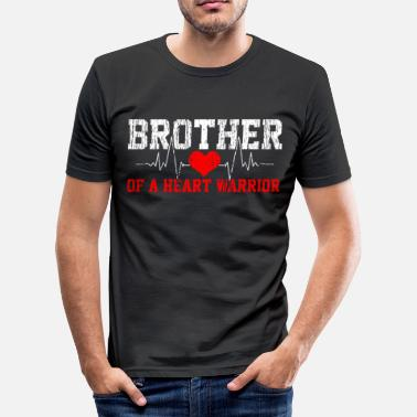 Heart Heart disease heartbeat warrior brother - Men's Slim Fit T-Shirt