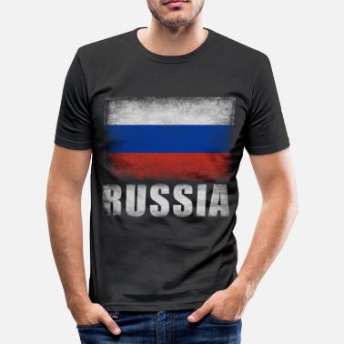 Rossia Russia flag, Russia, Rossia gift - Men's Slim Fit T-Shirt