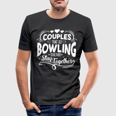 BOWLERIN BOWLING: koppels die GIFT GO BOWLING - slim fit T-shirt
