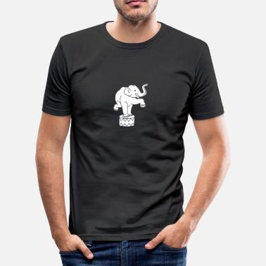 Zirkus Comic Zoo Zirkus Elefanten Circus Elephants Retro Comic - Männer Slim Fit T-Shirt