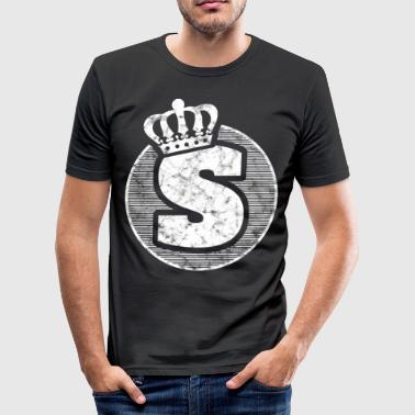 Stylish letter S with crown - Men's Slim Fit T-Shirt