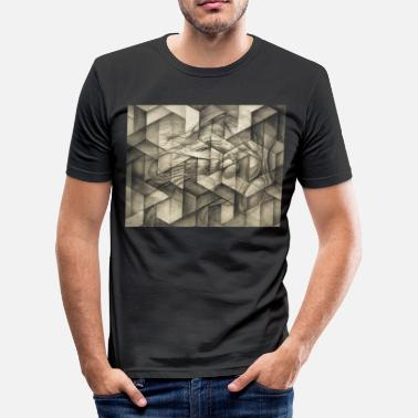 Surrealismus mindgeometry - Männer Slim Fit T-Shirt