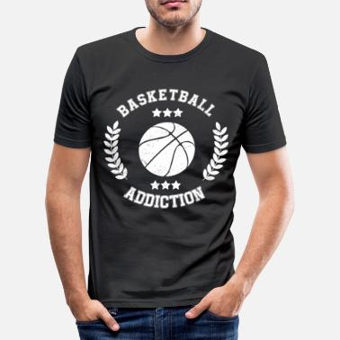Boldsport Basketball Addiction - afhængighed Boldsport - Slim fit T-shirt mænd