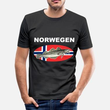 Fischmotiv Norwegen - Dorsch Shirt - Männer Slim Fit T-Shirt