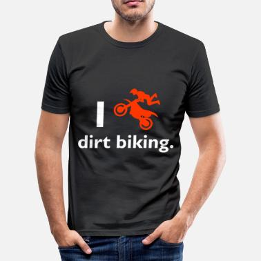 Dirt Caps Dirt biking - Men's Slim Fit T-Shirt