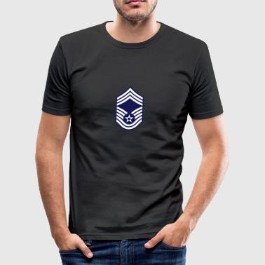 Chief Master Sergeant CMSgt, Mision Militar ™ - Men's Slim Fit T-Shirt