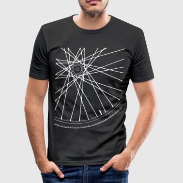 Bicycle Race Spokes Cycling Race w - Men's Slim Fit T-Shirt