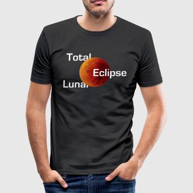Total Lunar Eclipse - Red Blood Moon med Umbra - Herre Slim Fit T-Shirt