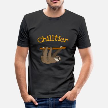 Chilling Chilling, chilling animal, luiaard - slim fit T-shirt