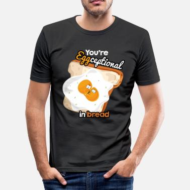Egg Yolk Egg yolk fried egg egg toast love funny kiss bread - Men's Slim Fit T-Shirt