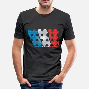 European Championship Football World Cup or European Championship France - Men's Slim Fit T-Shirt