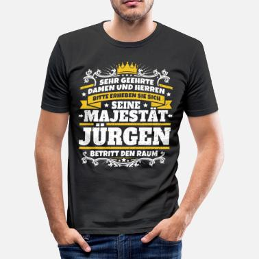 Jürgen Gift His Majesty Jürgen - Men's Slim Fit T-Shirt