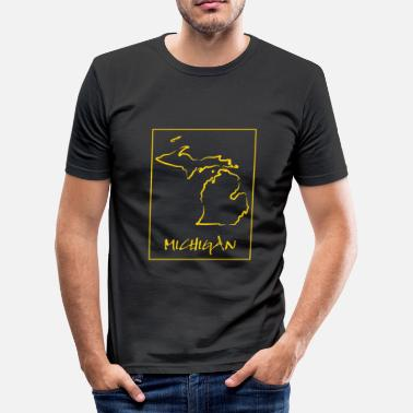 Michigan Michigan - Männer Slim Fit T-Shirt