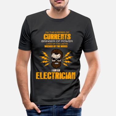Electricity Electrician Electricity Electricity Electricity Gift - Men's Slim Fit T-Shirt