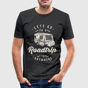 Camping Lover Road Trip Adventure in de natuur - slim fit T-shirt