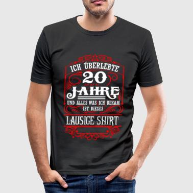 20th anniversary - survived - lousy shirt - DE - Men's Slim Fit T-Shirt