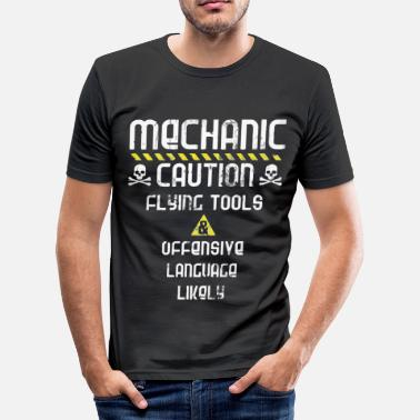 Tool Mechanic caution flying tools - Men's Slim Fit T-Shirt