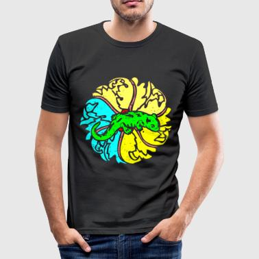 Newt Salamander amphibian colorful animal retro - Men's Slim Fit T-Shirt