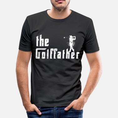The golffather golf father funny golf tshirt - Men's Slim Fit T-Shirt