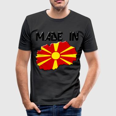Makedonien Makedonien - Herre Slim Fit T-Shirt