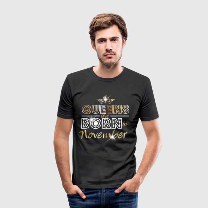 November - Queen - Birthday - 2 - Camiseta ajustada hombre