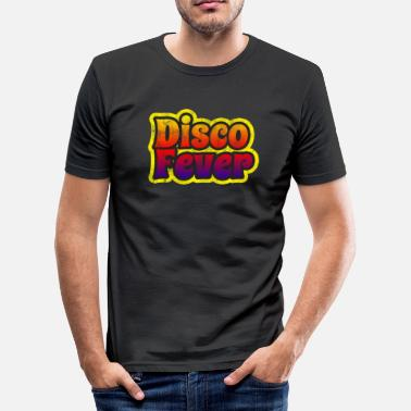 Disco Fever Disco Fever 1970s Color Fade Distressed Disco - Men's Slim Fit T-Shirt
