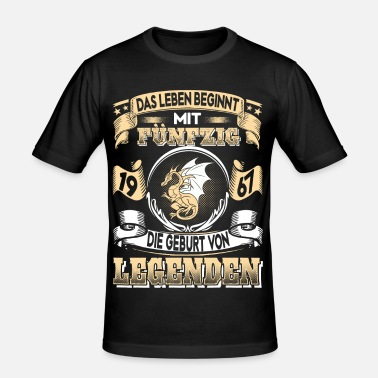 Año De Nacimiento 1967-50 años - Feria 3-2017 - Camiseta ajustada hombre e82460962dd22