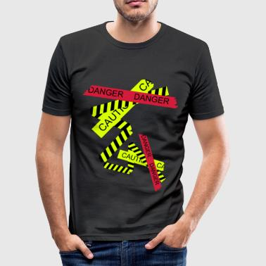 Attention, risque - Tee shirt près du corps Homme