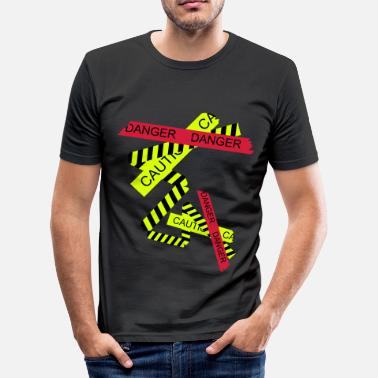 Danger danger - Men's Slim Fit T-Shirt