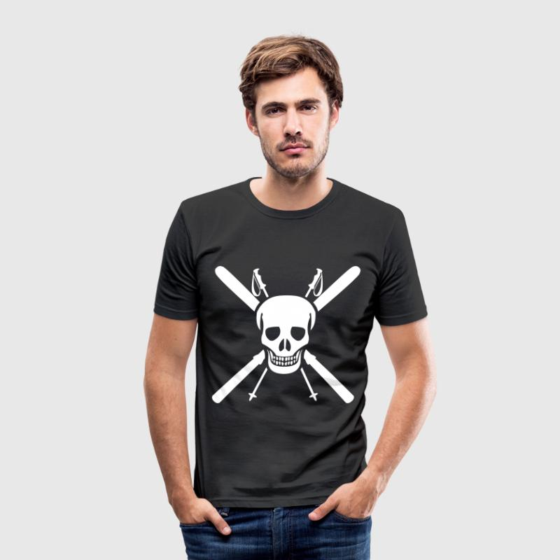 Ski Skull - Männer Slim Fit T-Shirt